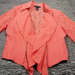 Lovely Linen and Lace Jacket